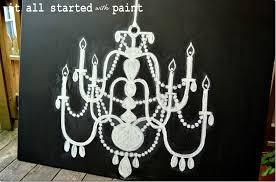 chalk art chandlier on canvas tutorial