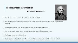 Nathaniel hawthorne biography