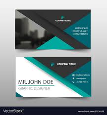 Green Triangle Corporate Business Card Name Card Vector Image