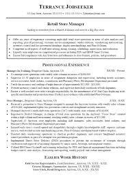 10 11 Resume Template For Retail Jobs Aikenexplorer Com