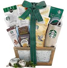 starbucks coffee and teavana tea extravagant gift basket a succulent and delectable gift idea for