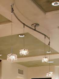beautiful track lighting. Four Pieces Hanging Flexible Track Lighting With Pendants Crystal Materials Beautiful Transparents Decor
