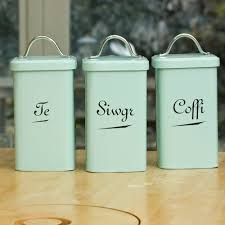 Duck Egg Blue Kitchen Utensils Welsh Kitchen Canisters P4 157ss Alb1200 Seld Chic Interiors