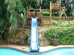 Build Your Own Pool Slide Make Water Save Thousands Above Ground