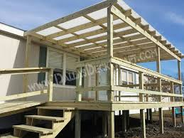 mobile home deck designs. deck mobile home pressure-treated pine beige designs p