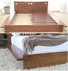 japanese platform bed. Zen Platform Bed Frame - Honey Oak Japanese S