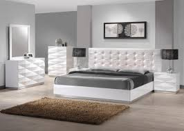 Quality White Bedroom Furniture Black Upholstered Leather Single Bed Bedroom With Fireplace White