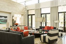 bay window ideas living room. Attractive Living Room Bay Window Curtain Ideas Glass Chandelier Pendant Lighting White Black Striped Armless Sofa