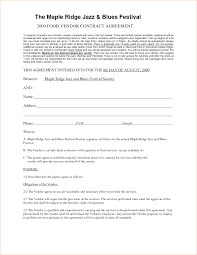 Event Vendor Contract Template Vendor Contracts Besikeighty24co 2
