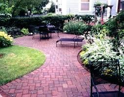 brick paver patio designs backyard design several