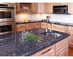 blue granite countertop kitchen island