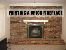 brick painting inspirational painting a brick fireplace step by step