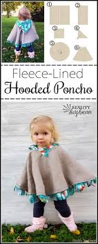 Fleece Poncho Pattern With Hood Awesome FleeceLined Hooded Car Seat Poncho For Toddlers Reality Daydream