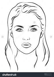 face templates for makeup contegri