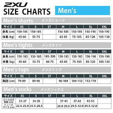 74 Efficient 2xu Compression Pants Size Chart