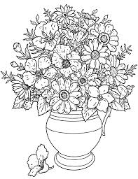 Fleurs Bouquet Fleurs Et V G Tation Coloriages Difficiles Pour
