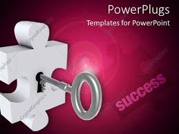 Wine Powerpoint Template Powerpoint Template Puzzle Piece With A Key On A Wine Colored