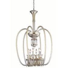 elegant lighting majestic elegant cut crystal golden teak six light 40 in chandelier