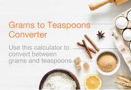 Grams To Teaspoons Converter Grams To Tsp