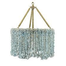 astonishing blue beaded chandelier plus chandelier base plate
