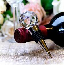 crystal ball bottle stopper wedding favors anniversary party favors wine stopper cystal giveaways bridal shower football party favors football party