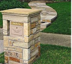 column mailbox insert. Exellent Column Stone Column Mailbox With Modern Locking Insert Large Capacity  Security Mailbox  Found At Planocolumnmailboxescom With Insert