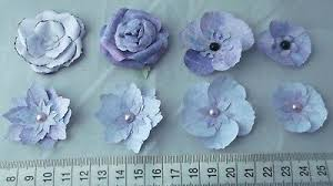 3d Paper Flower Calendar Lotus Flower Embellishments Scrapbook Floral Card Toppers
