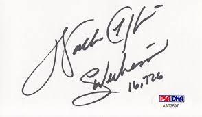 Payton Walter Walter Psa Autographfacts™ Payton