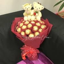 anniversary chocolate teddy bear bouquet cb6