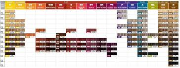 Paul Mitchell Professional Hair Color Chart Hair Color