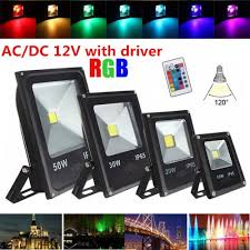 Decorative Outdoor Led Flood Lights Changeable Led Flood Lights Waterproof Outdoor Decorative