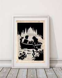 Small Picture Ariel and Eric Boat Scene Dictionary Art Print Prints on