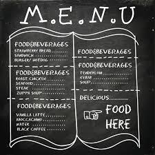 Menu Drawing Design Food And Beverages Menu Design Vector Image 1710115