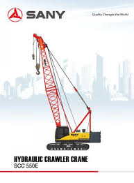 Sany 75 Ton Crane Load Chart Sany Brand Scc550e 55 Tons Crawler Crane For Construction