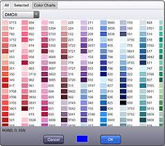 Dmc Color Chart 2017 46 Rare Dmc Color List