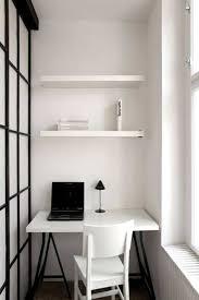 tiny home office ideas. Retrieve Small Home Office With Open Shelves And Desk Picture Tiny Ideas