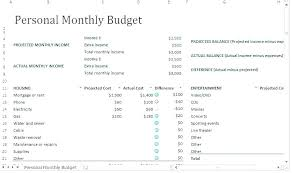 Vacation Budget Spreadsheet Template Monthly Budget Planner Excel Ms