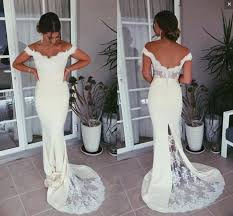 Classical Mermaid Bridesmaid Dresses Off The Shoulder Lace Appliques Satin Back Buttons Prom Dresses Long Formal Maid Of Honor Gowns Vestido After Six