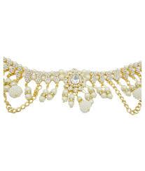 Kamarband Design My Design White Pearl Stone Gold Plated Bridal Kamarband