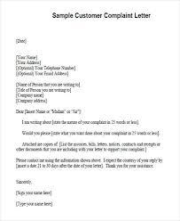 customer complaint letter customer complaint form template biztree com