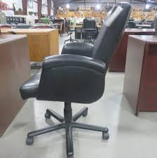 mid back leather desk chair by cartwright