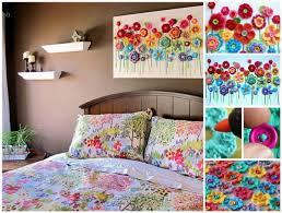 diy canvas wall art ideas crochet button flower wall art on canvas wall art diy ideas with diy button tree on canvas wall art