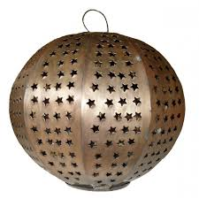 esfera punched tin hanging sphere