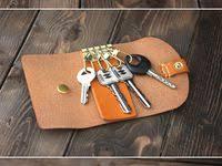 Leather key, Leather <b>key case</b>, Leather