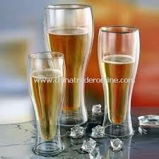 1 100 irish no by products henckels double walled beer glass 14 oz green or orange dual layers keep beer at the perfect temperature no messy