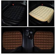 dewtreetali breathable front square velvet car seat cover winter warm car seat protector pad cushion auto