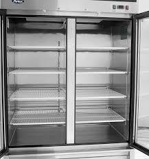 atosa mcf8703 bottom mount 2 two glass door freezer