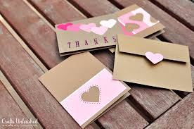Handmade thank you cards paint chips Supplies needed to make your own ...