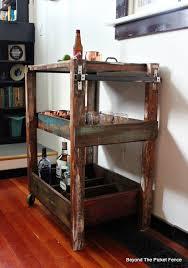 bar cart, rustic, industrial, pallet wood, reclaimed wood, bar, http