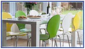 bright coloured dining room chairs